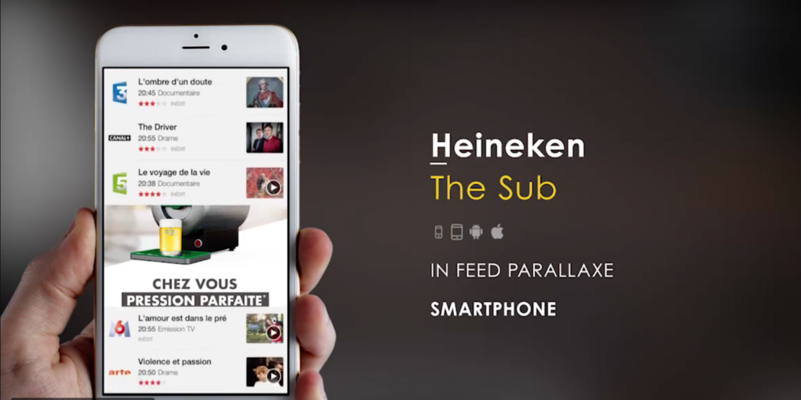 in-feed parallax