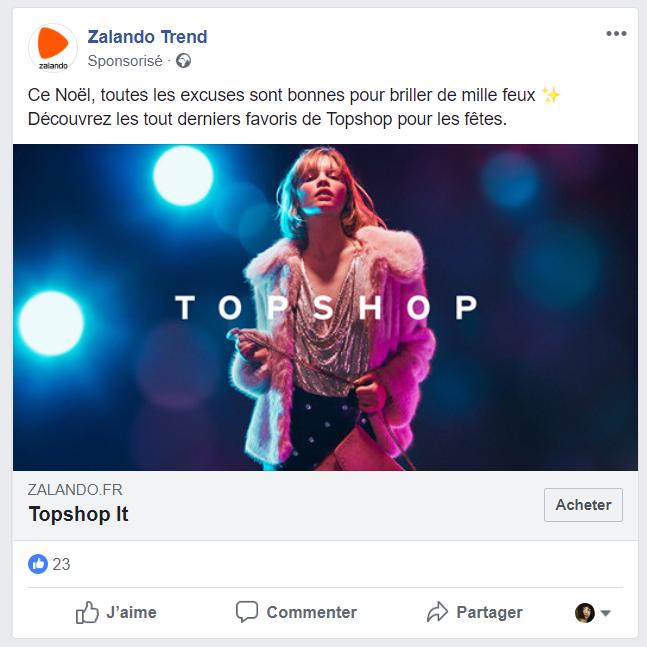 SMA - publication sponsorisée Facebook